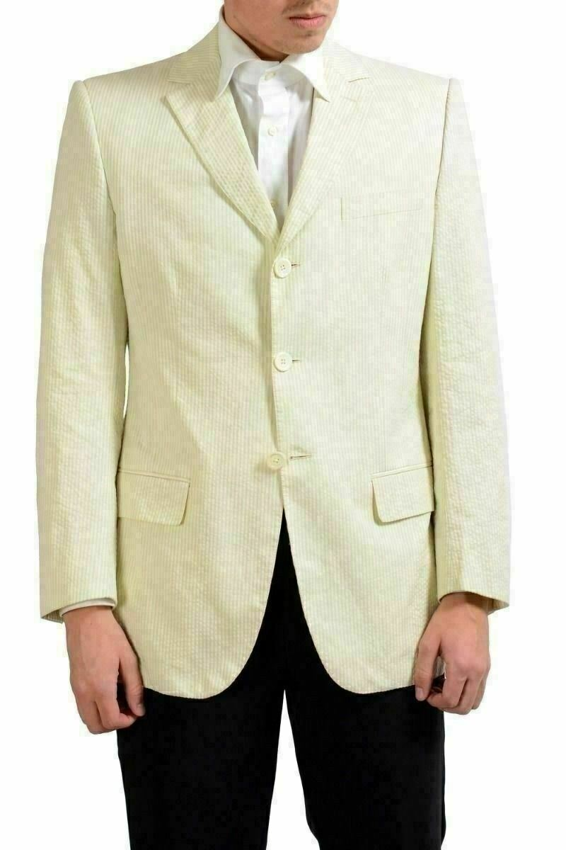 Gianfranco Ferre Drei Knöpfe Herren Gestreifter Blazer Sport Mantel Us 40 It  | Elegante und robuste Verpackung  | Sonderkauf  | Bequeme Berührung