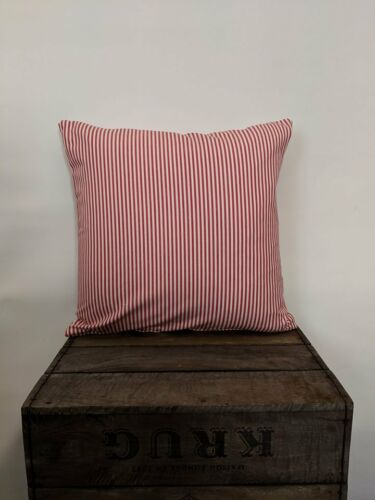 """Variety of Colours Large Pinstripe 22/"""" Cushion Covers-professionally Made"""