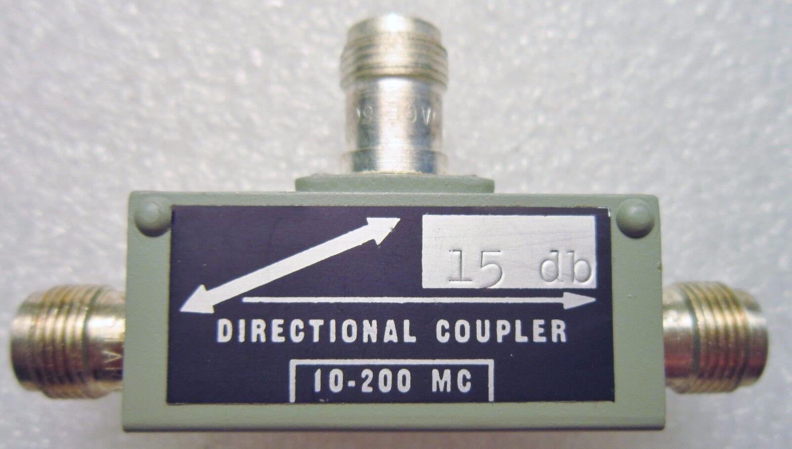 UR-1-15 MERRIMAC DIRECTIONAL COUPLER 15DB 10-200MC