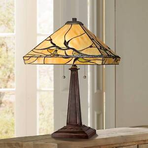Tiffany-Style-Table-Lamp-Mission-Bronze-Tree-Branch-Glass-Living-Room-Bedroom