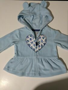 e6875694f Carter s Baby Girl Light Blue Hooded Fleece Jacket Coat size 6 ...