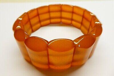 Bernstein Armband 100% :echter Bernstein Ca.7,5 Cm Breite Ca 31,8 Gr