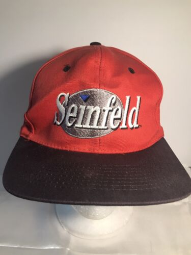 Vintage Seinfeld Logo Snapback Hat Cap Red NBC Jer