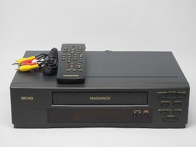 Magnavox VR9362 VHS VCR Recorder Player With Remote /& Cables