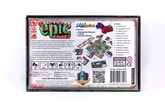 Tiny Epic Zombies Micro Board Game Gamelyn Games TEZ01 Mini