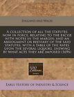 A Collection of All the Statutes Now in Force, Relating to the Excise with Notes in the Margin; And an Abridgment or Breviary of the Said Statutes, with a Table of the Rates Upon the Several Liquors, Shewing by What Acts They Are Imposed (1696) by England & Wales Sovereign (Paperback / softback, 2010)