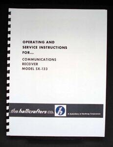 Hallicrafters SX-133 SX133 Receiver Manual HAM | eBay