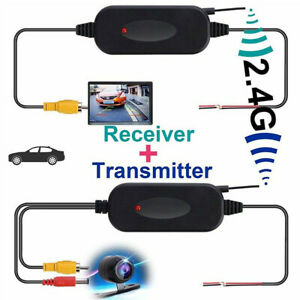 2-4Ghz-Senza-Fili-Trasmettitore-Ricevitore-Auto-Telecamere-posteriori-e-kit-IT