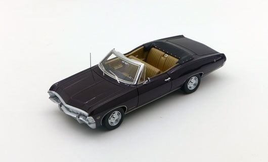 Chevrolet Impala SS 2 Door Convertible Royal Plum 1967 1 43 Model