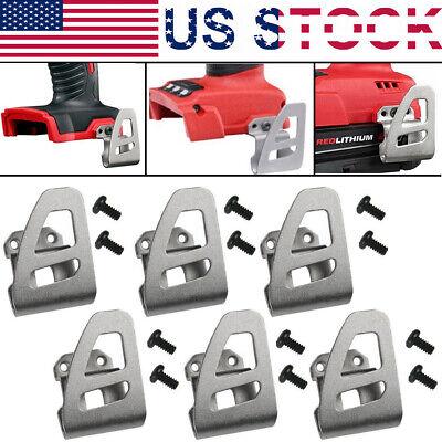 Free Screw for Milwaukee 18V 2653-22CT 2655-20 2797-22 2604-20 Belt clip Hooks