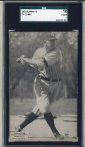 TY COBB 1925 Exhibit Card - Detroit Tigers HOF - RARE- SGC 10 (1) Encapsulated🔥