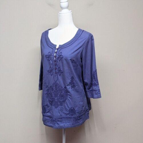 Soft Surroundings Embroidered Tunic Petite Medium