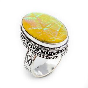 Australian-Triplet-Opal-Gemstone-925-Sterling-Silver-Jewelry-Ring-Size-8-5-0716