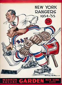 2-27-1955-MONTREAL-CANADIENS-NEW-YORK-RANGER-PROGRAM-tickets-press-release