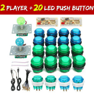 LED-Arcade-Game-DIY-Player-USB-Controller-Joystick-LED-Light-Push-Button-Switch