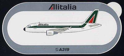 Schietto Sticker Originale Airbus Alitalia A319 319 - Nuovo Il Prezzo Rimane Stabile