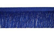 "BLUE FRINGE TASSEL TRIMMING, FRINGING TASSEL, 4"" INCH-10CM DROP X 1METRE"