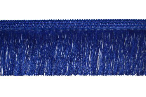 "BLUE FRINGE TASSEL TRIMMING 4/"" INCH-10CM DROP X 1METRE FRINGING TASSEL"
