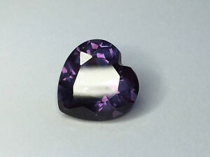 (3x3mm - 16x16mm) Heart Faceted AAA Lab Created Alexandrite Corundum