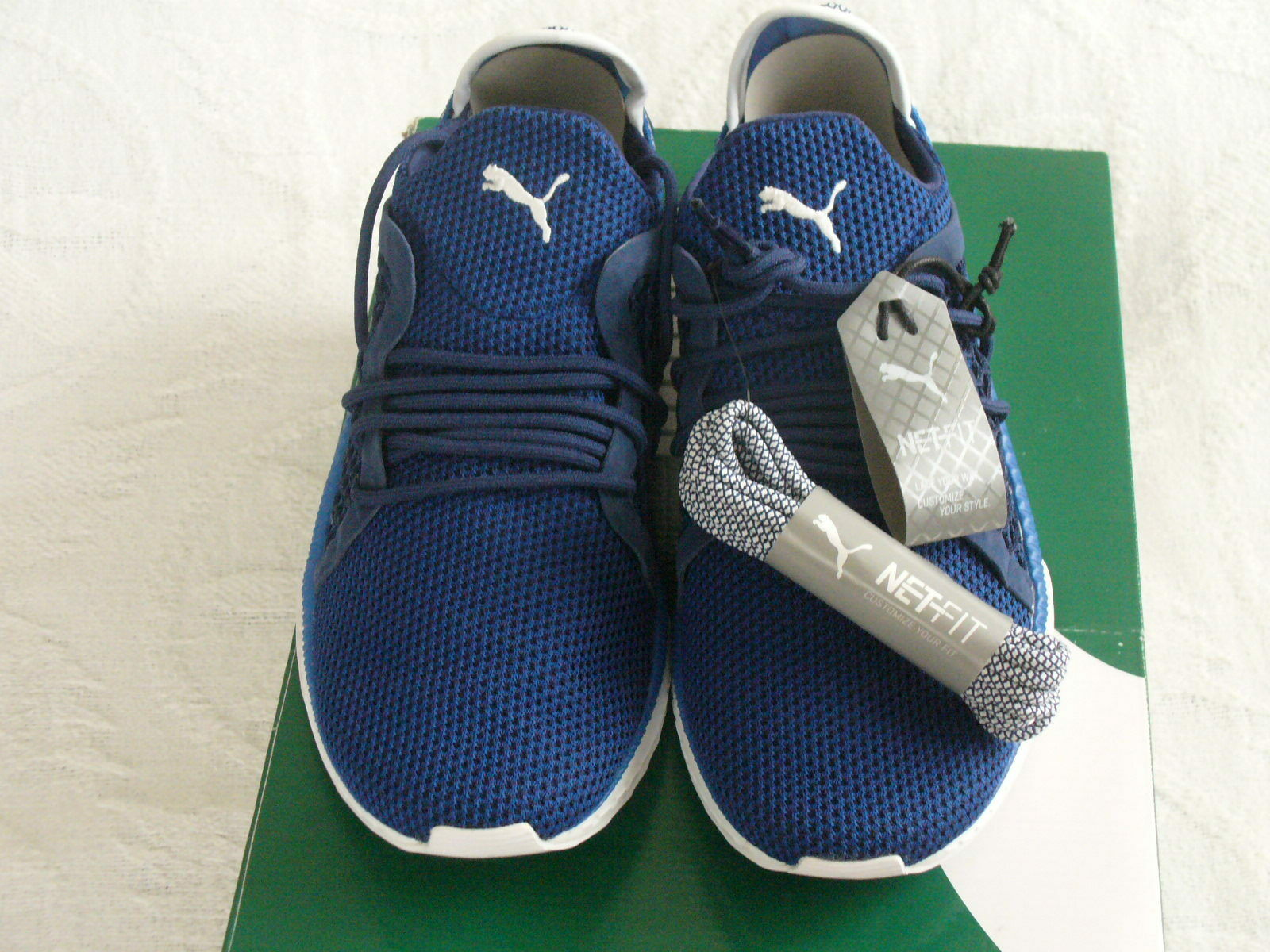 Puma Tsugi Netfit Lace Up Lapis bluee Syn Mesh Men Fitness shoes 364629 03 NWB 9.5