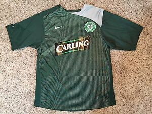 6164346ee NIKE 90 Fit Dry Celtic Football Club Soccer Carling Jersey Shirt Sz ...