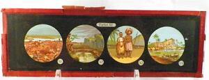 Antique-Glass-Slide-African-Man-Woman-Canoe-Waterfall-Tafel-XI-1880s-AS-IS