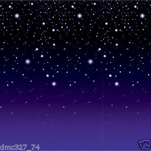 Image Is Loading HOLLYWOOD Alien Space Party Decoration Stars STARRY NIGHT