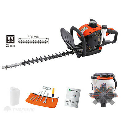 """TIMBERPRO Professional 26cc Petrol Powered Hedge Trimmer with 24"""" / 60cm Blades"""