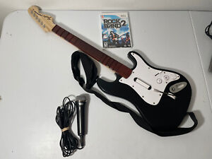 Harmonix Guitar Hero Rockband Fender Stratocaster (Model NWGTS2) With Game - Mic