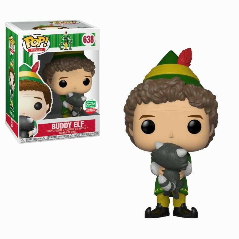 Elf Buddy Raccoon Exclusive Weihnachtself POP  Movies Vinyl Figur Funko