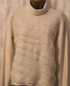 Karen Millen Contrast Embellished Collar Knit Cardigan Wool Jumper Top UK 8-10