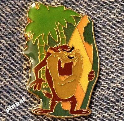 TAZ~Tasmanian Devil Pin~1988 vintage~WB~Warner Bros~Looney Tunes~Surfboard