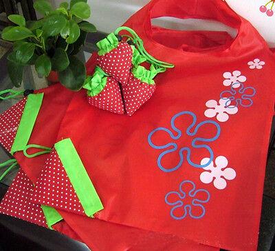 Hot Eco Storage Handbag Strawberry Foldable Shopping Bags Reusable Bag 8 colors