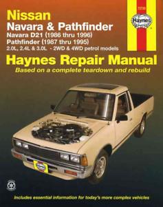 Nissan Navara D21 Pathfinder 1986-1996 Haynes Workshop Manual Service Réparation