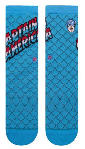 Captain America Stance Socks Marvel Comics Large Men/'s 9-12 Steve Rogers