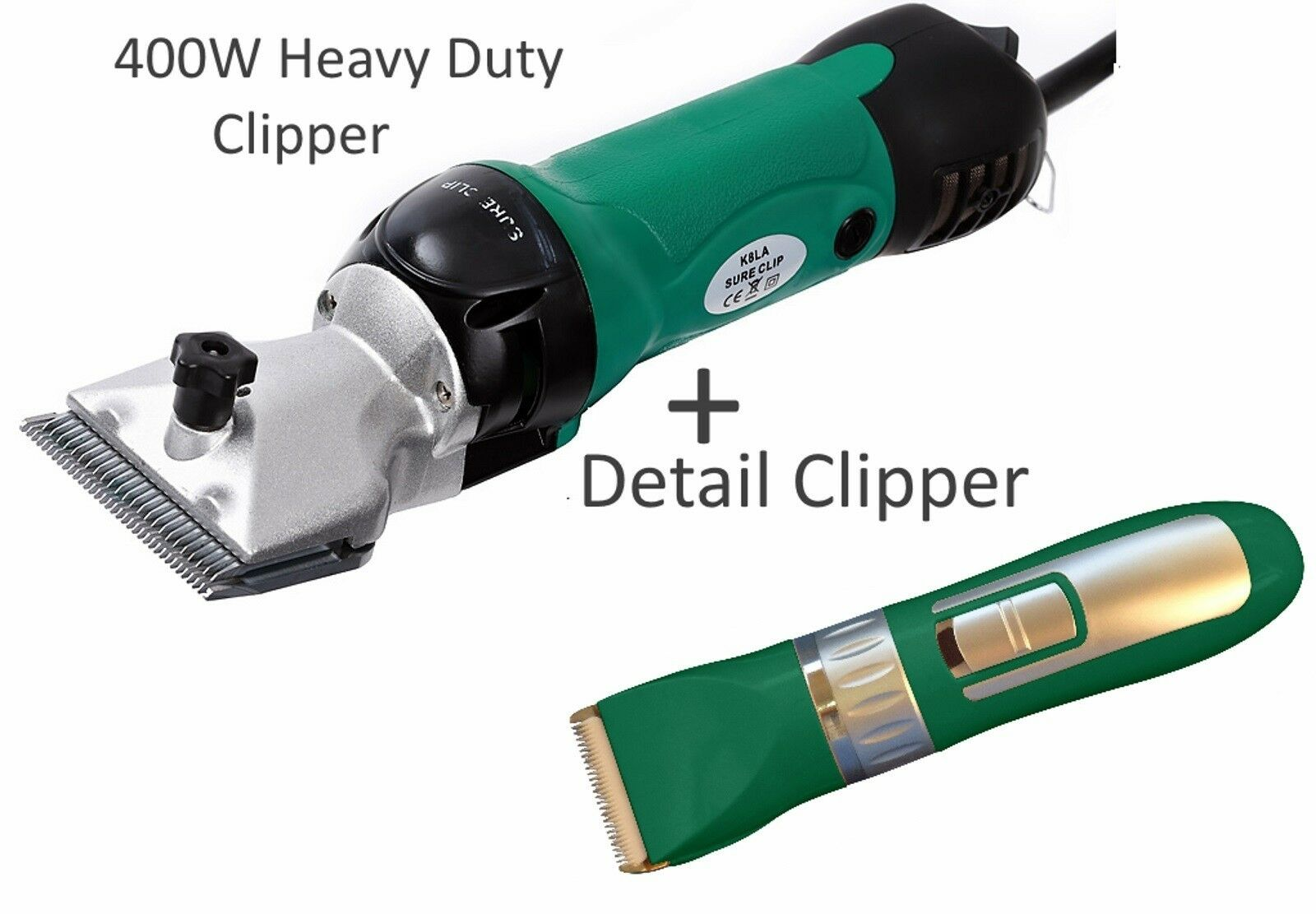 Horse Clipper Two Hand Sets Complete Kit