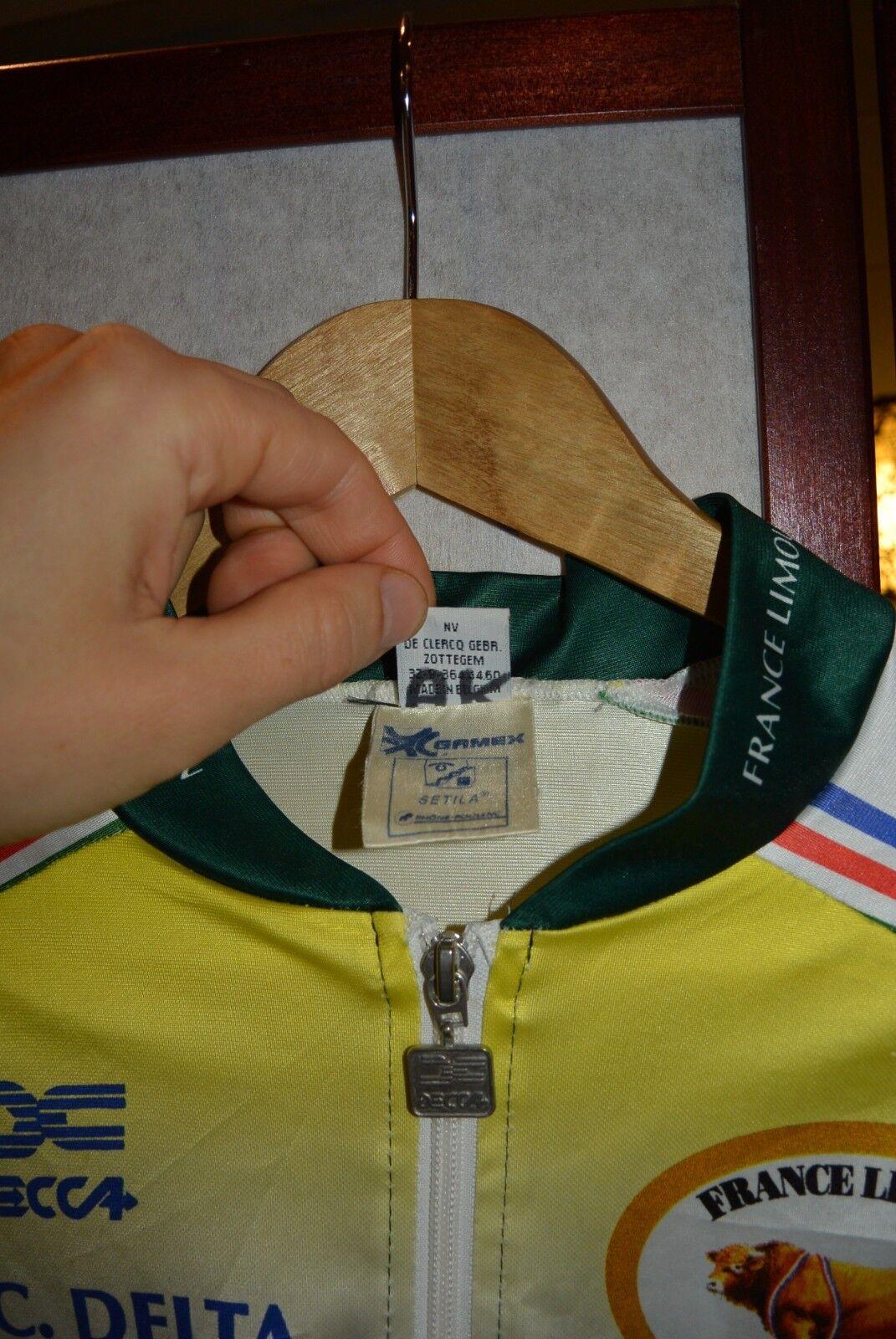 France Tour Limousin P.R.C. Delta   Delta Gamex  vintage cycling jersey L 07f3d8
