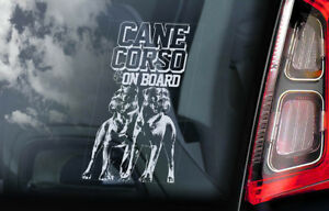 Cane Corso on Board - Car Window Sticker - Corsos Dog Decal Italian Mastiff -V10