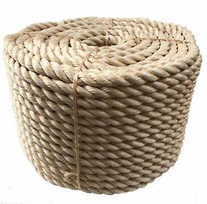 Corde de pontage à 3 brins en sisal synthétique de 32 mm x 9 mètres,