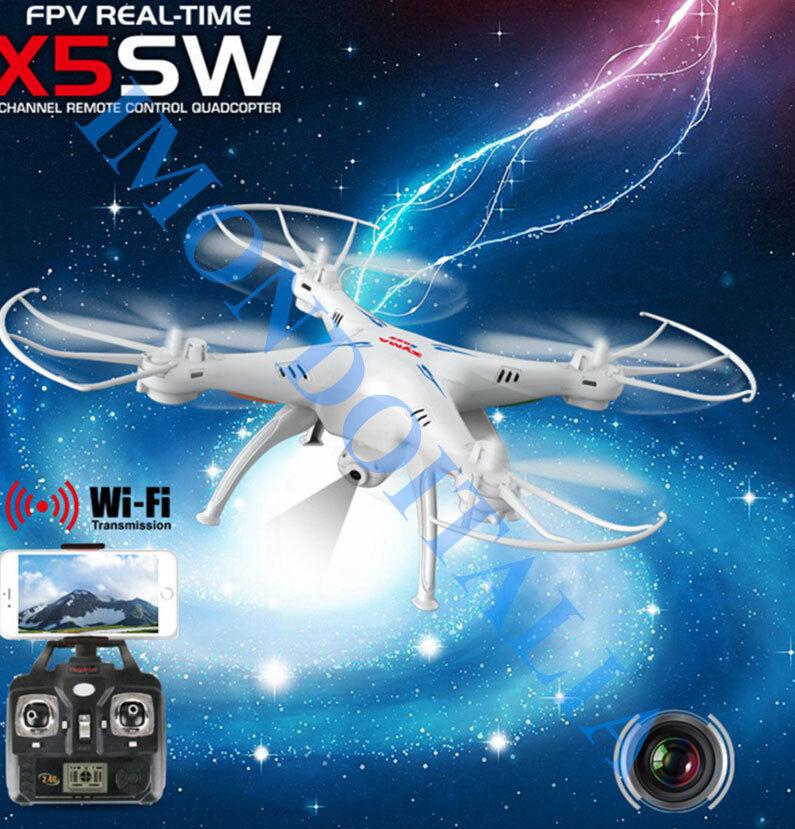 vendita calda RC QUADRIC.-DRONE QUADRIC.-DRONE QUADRIC.-DRONE Syma X5SW   Wifi FPV  + 2 Batterie ( Totale 3)  a buon mercato