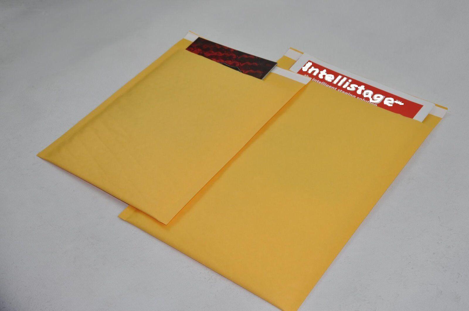 "100 #0000 4x6 /""PMG/"" Kraft Bubble Mailers Self Seal Padded Envelops 4/"" x 6/"""