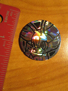 NM Pokemon GENESECT EX Shiny//Silver PLASTIC COIN Collector Promo Set Shattered
