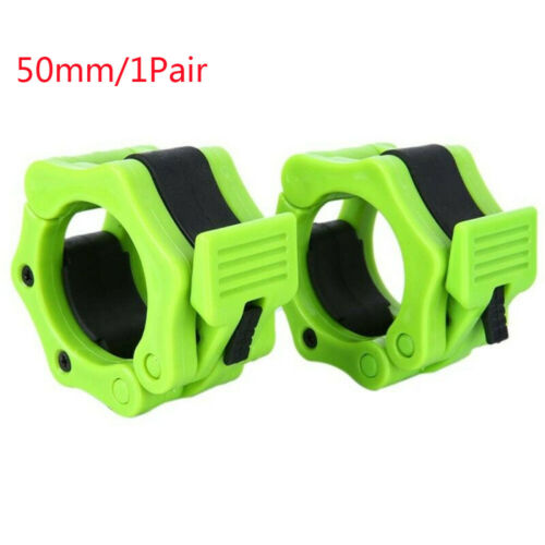 """2x Olympic Dumbbell Barbell Bar Lock 1/"""" 2/"""" Weight Clamps Collars Gym Training"""