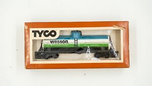 Tyco-Wesson-Vegetable-Oil-40-039-Tank-Car-HO-Scale-Model-Railroad-w-Box-315-K