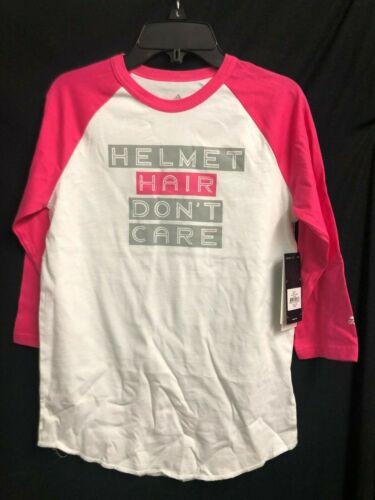 Neuf avec étiquettes Adidas Blanc /& Rose Baseball Manches 3//4 Baseball Shirt Femme Casque De Cheveux