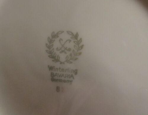 Winterling Bavaria China WIG2 ~ Gray Rose Platinum Trim ~ Soup Bowl ~ Germany
