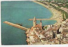 Sitges Vista Aerea de la Punta Old Postcard Spain 244a