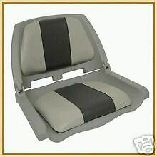 Folding Padded Boat Seat Grey - Grey/Charcoal - NEW