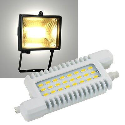 LED R7s Leuchtmittel 118mm 660lm, 230V/8W_ Fluter Halogenstab Ersatz Stableuchte