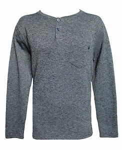 New Volcom solid navy blue sweat shirt sweatshirt crew neck sz Small or Large
